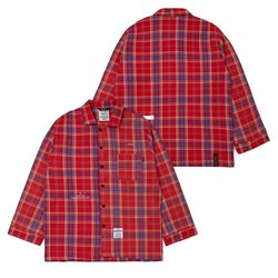 CHECK PAJAMA OVERSIZED SHIRTS RED