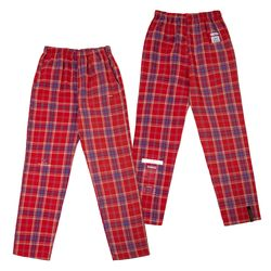CHECK PAJAMA PANTS RED