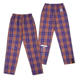 CHECK PAJAMA PANTS PURPLE