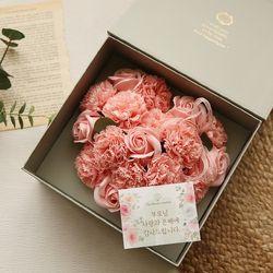 러브레터플라워박스 - 하트비누꽃 [2color]