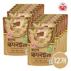 오뚜기 부산식 돼지국밥 곰탕 500g 12개입 1박스