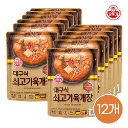 오뚜기 대구식 쇠고기 육개장 500g 12개입 1박스