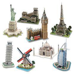 모또 세계 유명 랜드마크 건축물 8종 입체퍼즐 만들기