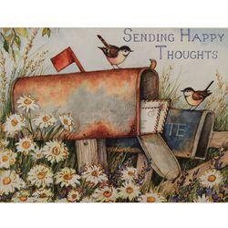 일러스트카드 Heart Home Sending happy thoughts