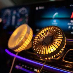 단풍나무 LED 차량용 에어컨 거치식 쿨 선�V기 ACF11