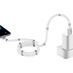 자석 마그네틱 선정리 USB 고속충전 케이블 8PIN 1.2m