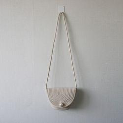 진주 플랩 커버 라탄 왕골 미니 숄더 크로스백 (2color)