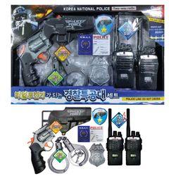리얼무전기 경찰 특공대세트-장난감 총 수갑 무전기 경찰뱃지