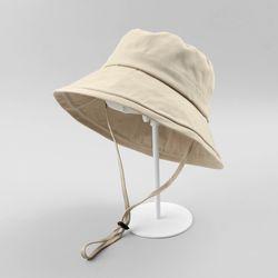 코튼 와이어 벙거지 모자