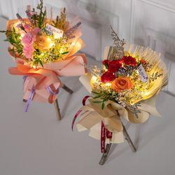 LED 스윗카네이션스탠드꽃다발 32cmP 조화 꽃 FMBBFT