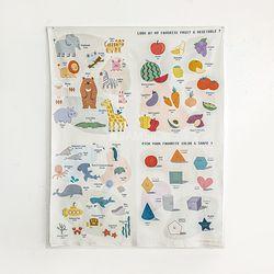 컷트지] 유아동 포스터 디어마이프렌즈 4종SET(164228)
