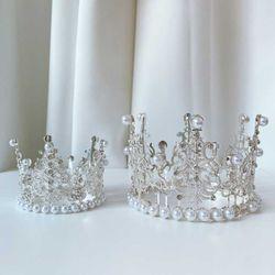 퀸티아라 2size 케이크 왕관 웨딩 생일 파티 프로포즈 소품