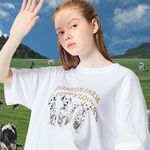 OVER FIT PUPPY T-SHIRT WHITE