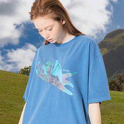 CATPID PIGMENT T-SHIRT BLUE