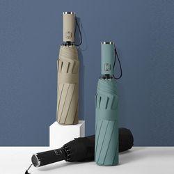 안부러지는 튼튼한 암막 3단 자동 우산 양산 판촉우산 가능