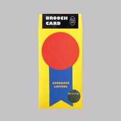 BROOCH CARD - CONGRATS