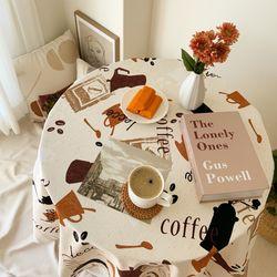 커피 카페 식탁보 4색상 테이블보 피크닉매트 홈카페