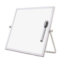 양면 미니 화이트보드 스탠드 자석칠판 25cmx25cm