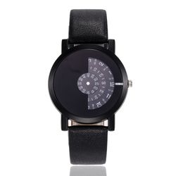 TurnTable턴테이블 HOSAN 아날로그 손목시계 Black377