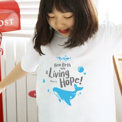 The Word 티셔츠- Living Hope(고래) 아동용