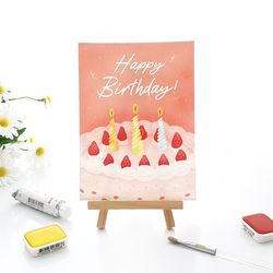 [엽서카드] POSTCARD - 달콤한 케이크 Happy Birthday