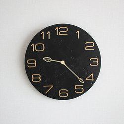 안나스톤 내추럴벽시계 (블랙)