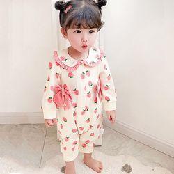 상큼딸기 리본 유아 우주복(59-90) 204339