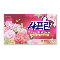 섬유유연제 샤프란 아로마시트 핑크 센세이션 30매