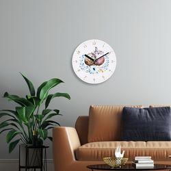 브론즈하우스 WMC-121 복을 부르는 풍수 부엉이 벽시계(무소음)