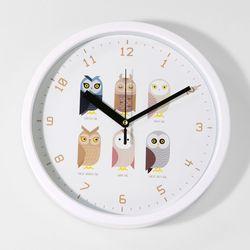 브론즈하우스 CFC-038 부엉프렌즈 풍수 프레임 벽시계(무소음)
