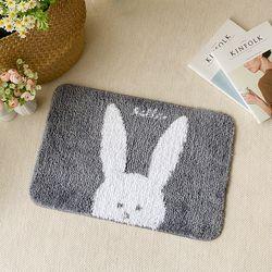 토끼 동물 발매트 미끄럼방지 주방 욕실 현관 러그