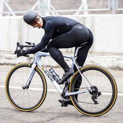 CRNK 레이싱핏 자전거의류 이태리 패드 자전거 7부빕