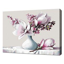 [명화그리기]4050 하얀 도자기와 목란화 24색 정물화