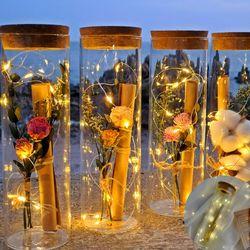 LED 꽃 편지지세트 유리병편지 어버이날 카네이션 기념일 선물