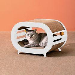 펫트리움 스크래쳐 하우스 고양이용품 숨숨집 캣하우스