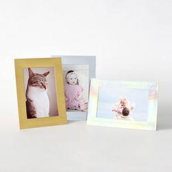스탠딩 페이퍼프레임 - 4x6 메탈릭 10매 (종이액자)