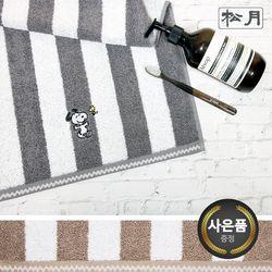 송월 스누피 멜로우 스트라이프 1매 세면타월 기념수건 답례품