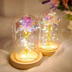 LED 유리돔 홀로그램 장미 카네이션 무드등 (각인서비스)