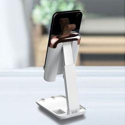 (리빙그로)휴대용 접이식 핸드폰/패드 거치대(화이트)