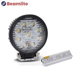 LS27 2500루멘 써치라이트 27W LED작업등 AC연결용 컨버터 포함