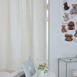 라인브리즈아이보리 작은창커튼 카페커튼 135x160cm