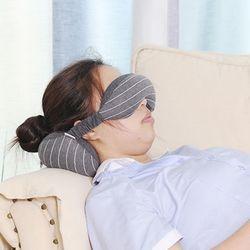 코모도 올인원 낮잠 숙면 여행용 기내용 눈가리개 안대 목베개