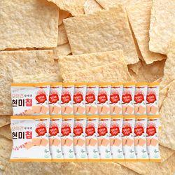 열풍으로 구운 기름제로 모미건 현미칩 과자 25g 20봉