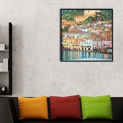 가르다 호숫가 말체시네 Malcesine on Lake Garda 35.6x35.6cm
