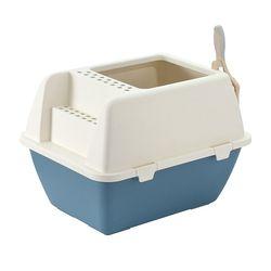 더캣 탑 엔트리 고양이 화장실 (블루)