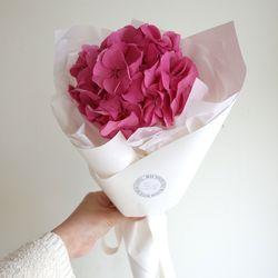 핑크수국 꽃다발