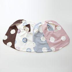 몰랑몰랑 귀여운 사각 아기턱받이 4종세트 초기이유식턱받이