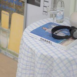 온더브리즈블루 식탁보 테이블보 135x135cm