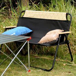 더블 벤치 폴딩체어 2인용 GS-108 접이식 캠핑 의자