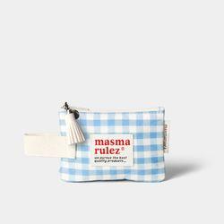 마약 스트랩 파우치 스프링 미니 - Blue